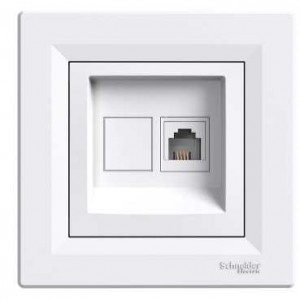 Asfora 1xRJ11 - 4 (White)