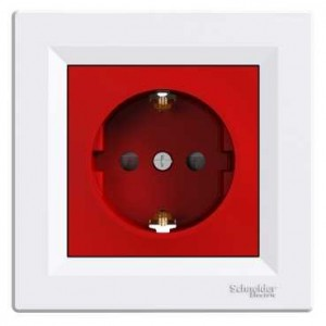 Earthed Socket Outlet ( Red&White)