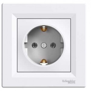 Earthed Socket Outlet (White)