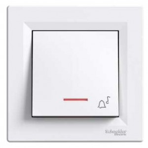 Illuminated One Pole Pushbutton (Bell Sign - White)