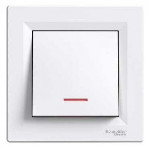 Illuminated One Pole Switch (White)