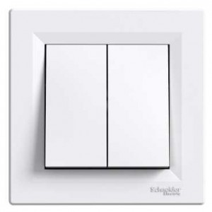 One Pole Two Circuits Switch (White)