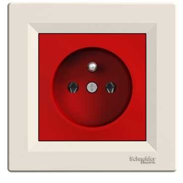 Wall mounted cabinet for bathroom - Socket Outlet Ups Red Amp Cream Ebrar Foreign Trade And